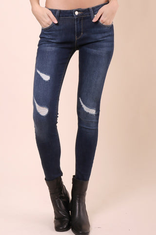 Just Black Cut Off Cropped Skinny Jeans