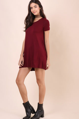 Jac Parker Valley Tee Dress - Wine