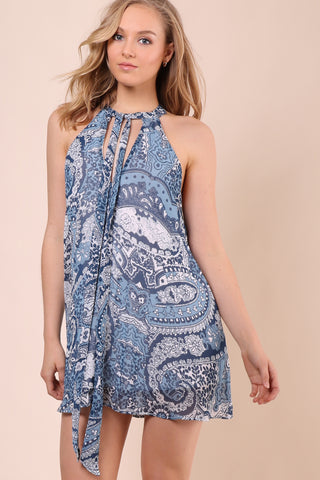 Show Me Your Mumu Tie Front Tess Dress