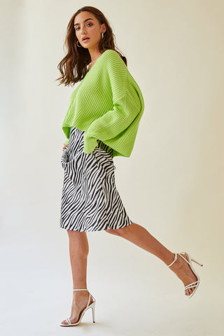 Gab & Kate Zebra Midi Skirt