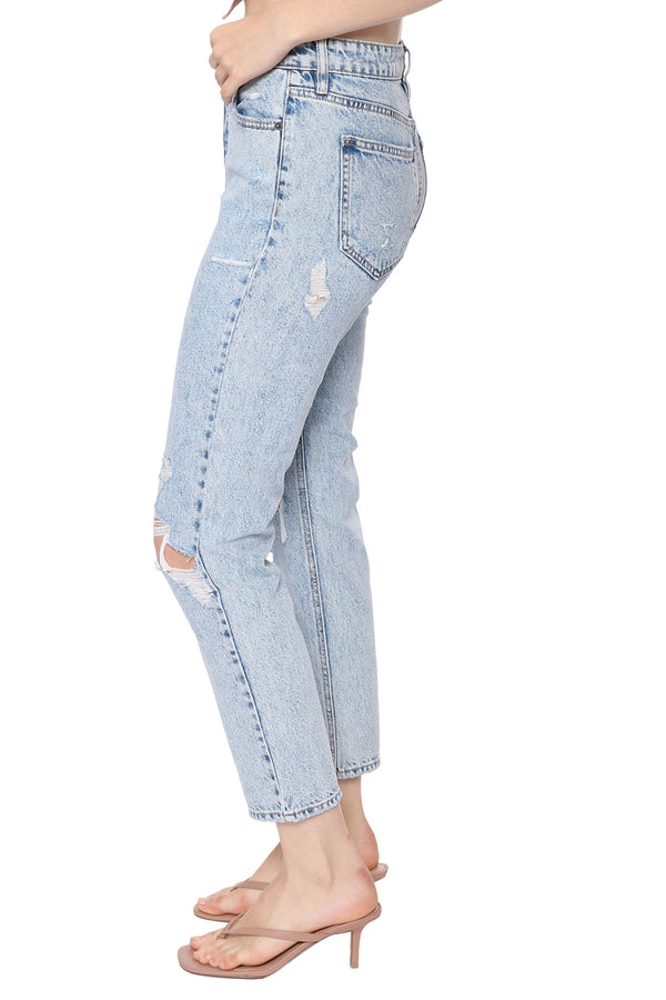 Bailey Light Wash Distressed BF Jeans