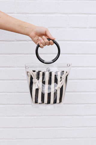Mini Stripe Bucket Bag