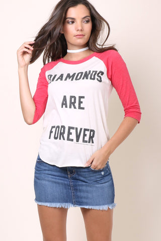 Junkfood Diamonds Are Forever Baseball Tee