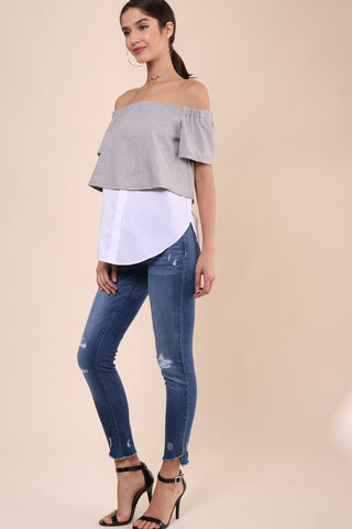 Decker Amal Off the Shoulder Top