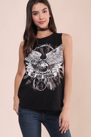 Jonathan Saint We Are Young Fringe Back Muscle Tee