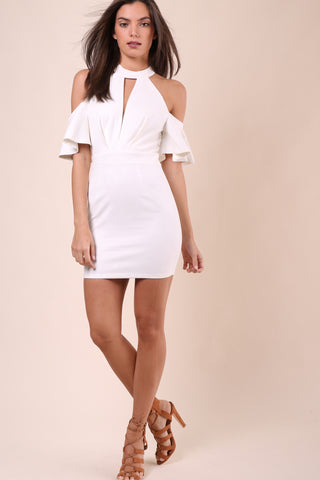 Bianca Ultra Suede Frenchie Dress