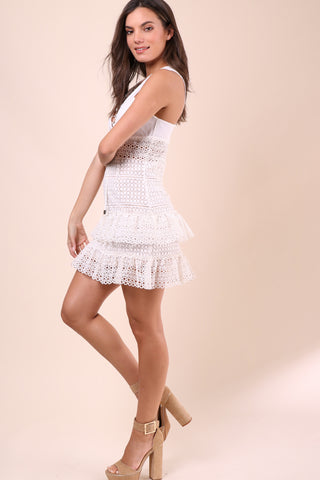 Brooklyn Karma Lovestoned Lace Dress - White