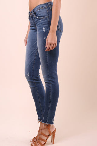 Flying Monkey Cropped Fray Hem Skinny