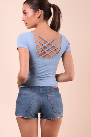 Suzette Scoop Neck Spider Cage Tee