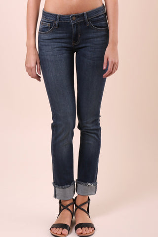 Just Black Frayed Slim Straight Skinny