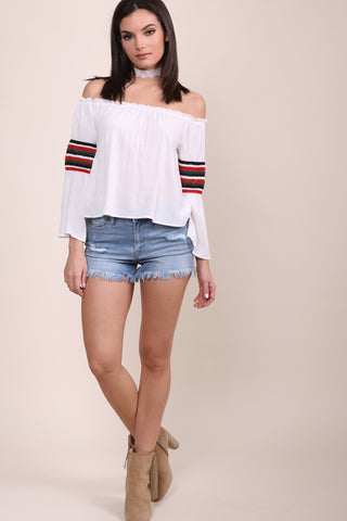 Gab & Kate Panama Off The Shoulder Top