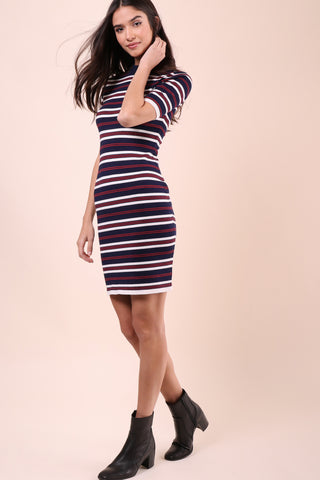 J.O.A Stripe Long Knit Dress
