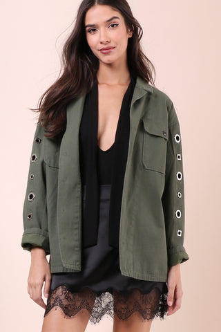 Brooklyn Karma Grommet Army Jacket
