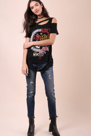 Jonathan Saint Rock Star Distressed Tee