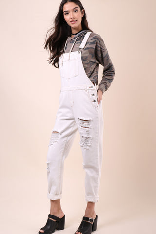 Brooklyn Karma Distressed Overalls