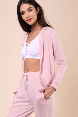 Jac Parker Simple Life Zip Up Hoodie