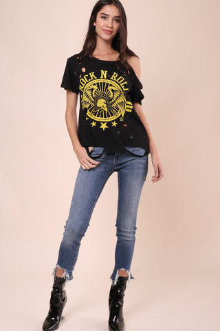 Jonathan Saint Rock n Roll Distressed Tee