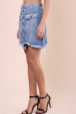 Hidden Peyton Denim Skirt