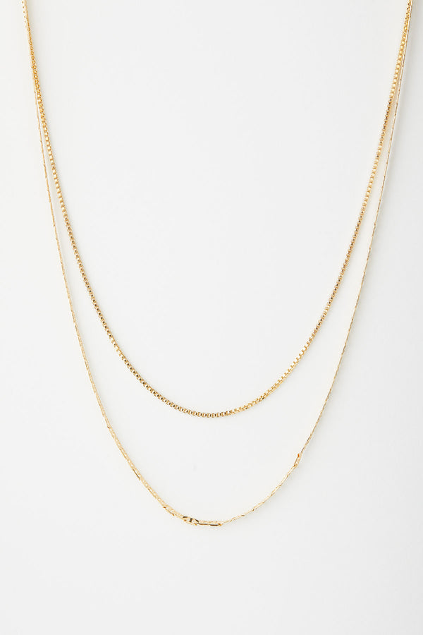Emma Delicate Double Chain Necklace