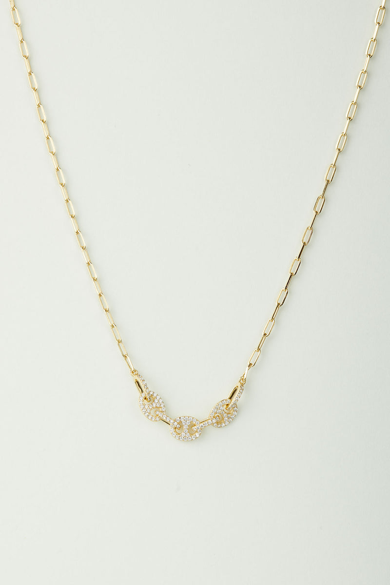 Madison Cubic Zirconia Link Center Necklace