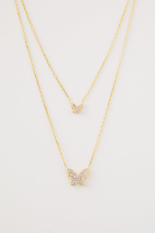 Kinsley Cubic Zirconia Butterfly Necklace