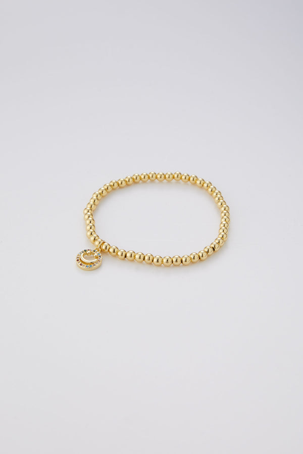 Jessi Ball Bracelet With Hanging Smiley