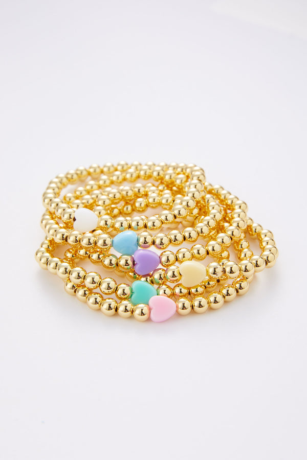 Gabriella Ball Bracelet With Heart