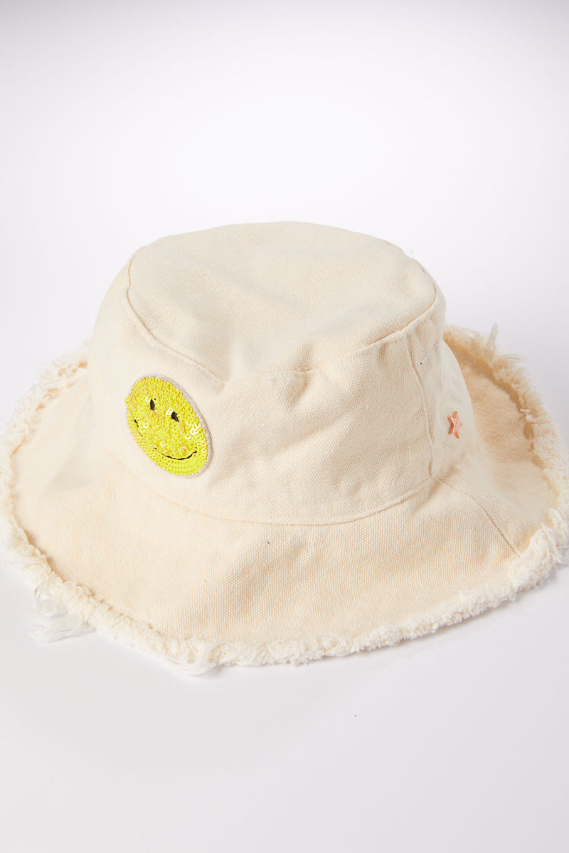 Bucket Hat With Smiley