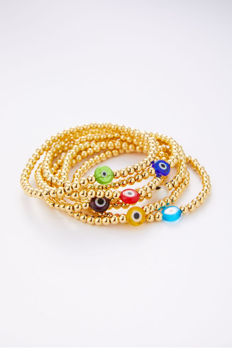 Ball Bracelet With Eye Gold