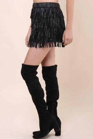 Brooklyn Karma Life In The Fast Lane Fringe Skirt