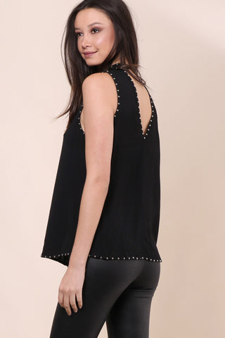 Decker Think About Me Studded Top