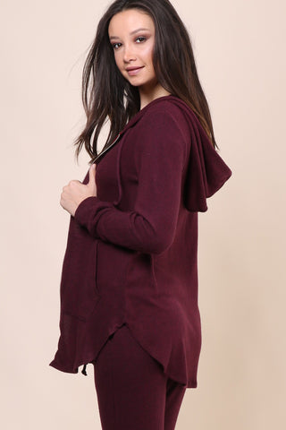 Jac Parker Weekender Zip Up Hoodie - Wine