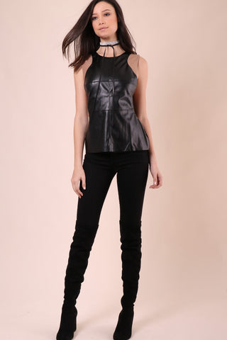 Decker Kara Vegan Leather Top
