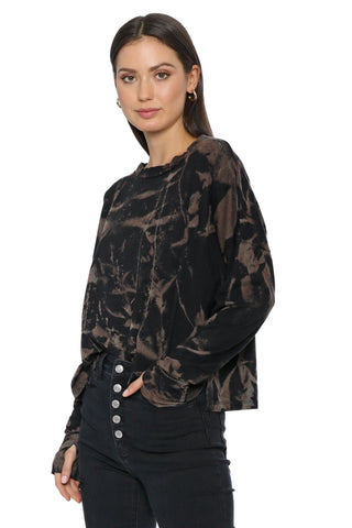 The Laundry Room x Mixology Black Cloud Tie Dye Long Sleeve