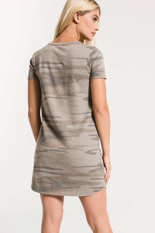 Z Supply The Camo Split Neck Dress