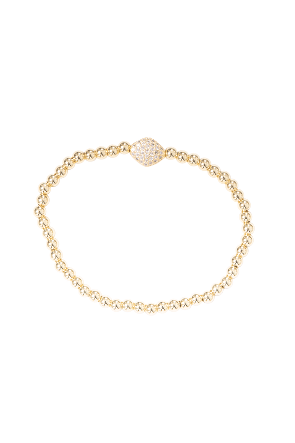 Ball Bracelet With Cubic Zirconia Oval