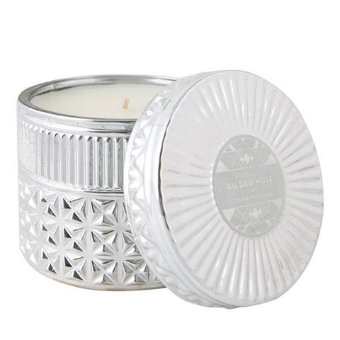 Citrus & Violet Haze Chrome Faceted Jar Candle