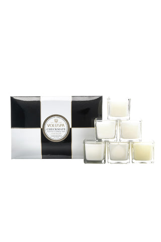 Voluspa Maison Checkmate Candle Gift Set