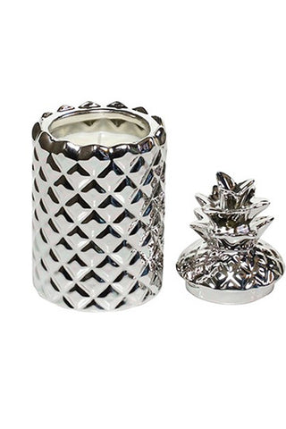 Thompson Ferrier Pineapple Candle - Silver