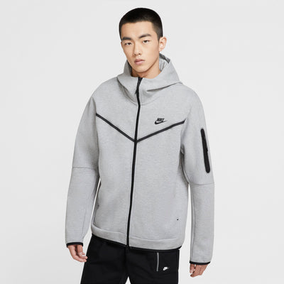 Nike Tech Fleece hettupeysa grá
