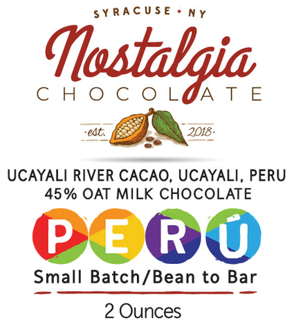 Peru Ucayali River Cacao Oat Milk Chocolate