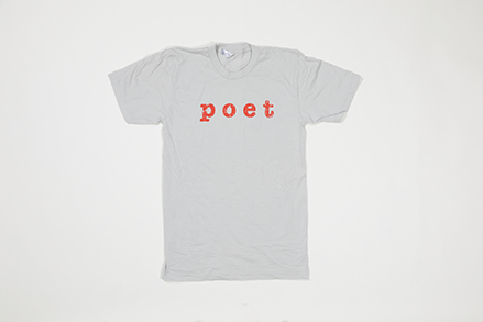 Poet Crew Neck Light Grey Base with Red Text