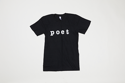 Poet Crew Neck - White Text on Black Base