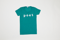 Poet Crew Neck Green Base with White Text