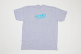 Poet Crew Neck Light Grey Base with Blue Text