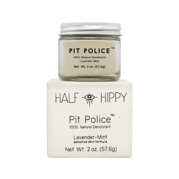'Pit Police'  Deodorant Jar: Lavender-Mint: Sensitive Skin Formula - The Conscious Glow Boutique