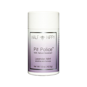 Pit Police Deodorant Push-Up Tube: Lavender-Mint: Sensitive Skin Formula