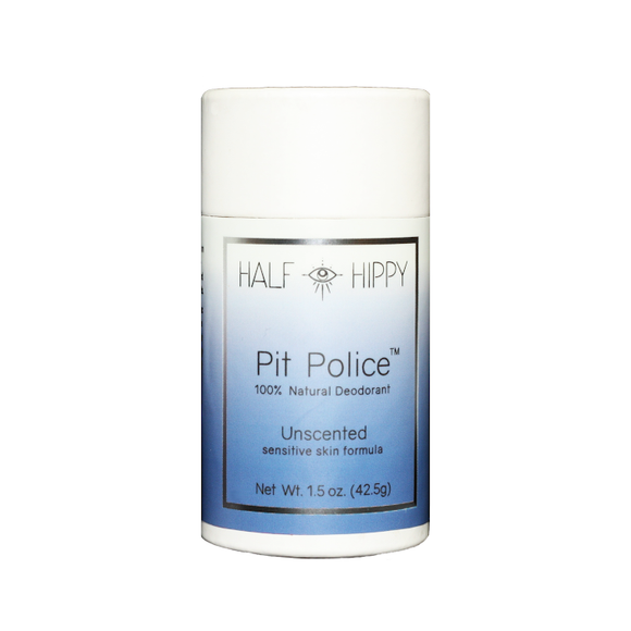 Pit Police Baking Soda-Free Deodorant for Sensitive Skin: Unscented