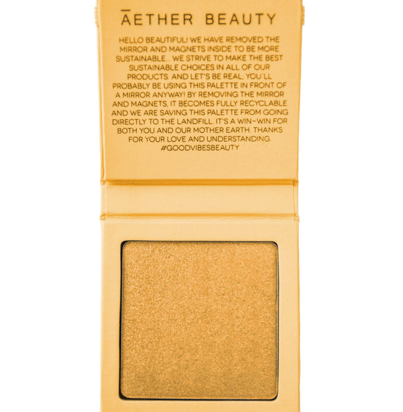Aether Beauty Co. Supernova crushed yellow diamond highlighter - The Conscious Glow Boutique