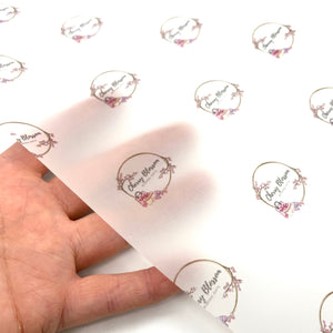Business Logo Printed Vellum Paper Pack